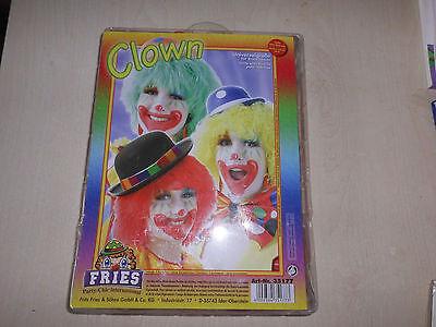 Karnevals-Perücke Clown  rot  Fasching Kostüm