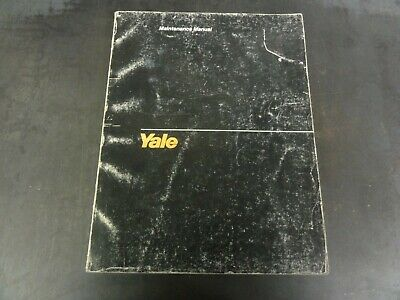 Yale Erp 030 035 040 Tce Electric Rider Fork Lift Trucks Maintenance Manual 1456