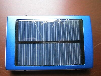 Solar Portable USB External 20000mAh Battery Cell Phone Charger Power Bank BLUE for sale  Shipping to Nigeria