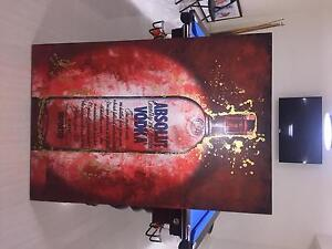 Absolute Vodka Hand Painted Painting Paradise Point Gold Coast North Preview