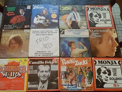 "Lot de 12 Vinyles - 7"" - 45 tours Allemand - Voir Photo - (47)"