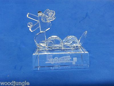 RARE CATHAY BANK CRYSTAL GLASS CHINESE DRAGAON PAPERWEIGHT SWAROVSKI FIGURINE