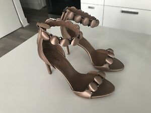 Alaia Bombe Sandals in Nude Satin 38.5