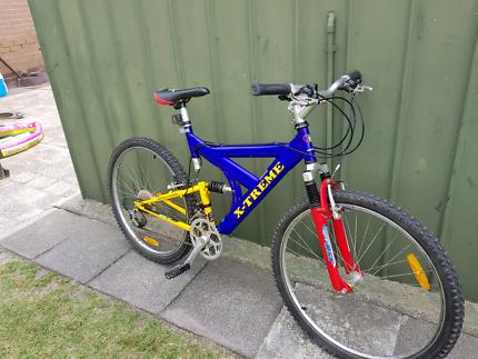 Mens dual suspension mountain bike 26inch bicycle