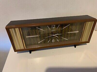 Vintage Coral Mechanical Rare Mantel Alarm Clock Wind Up Japan 2 Jewels 1960's