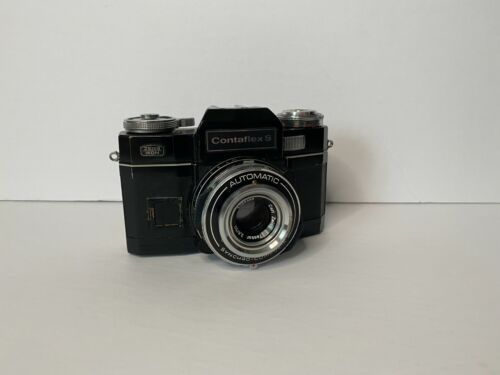 Contaflex S Carl Zeiss Film Camera with leather case