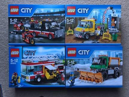 Lego City Truck sets - 60073, 60002, 60084, 60083 - all BNSIB