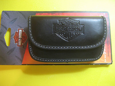 Harley-Davidson Leather Case for Mobile Phone, OFFICIALLY LICENSED, BRAND NEW!!!