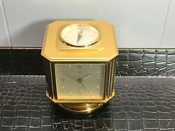 Vintage Imhof Weather Station Brass 5 In One Desk Clock Barometer Compass Temp
