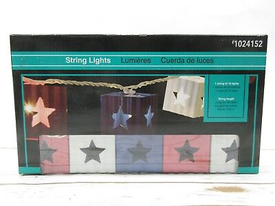 allen + roth 4th of July 10 Light Metal Shade Plug-In String Lights ()