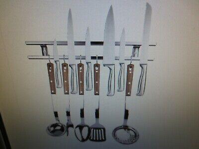 Stainless Steel 16 Magnetic Wall Mount Knife Holder Utensil Hanger Tool Bar