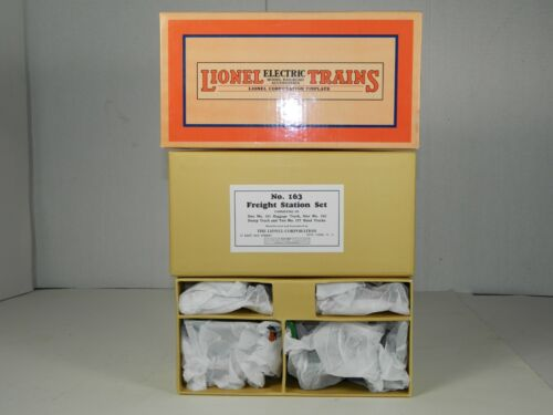 LIONEL TRAINS No. 11- 90037 # 163 FREIGHT STATION SET 4 PIECE MINT ORIGINAL BOX