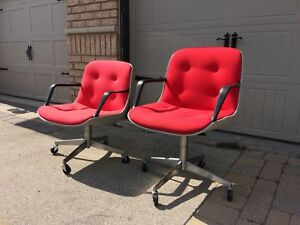 Vintage Charles Pollock style MCM tub chairs by Steelcase $65!