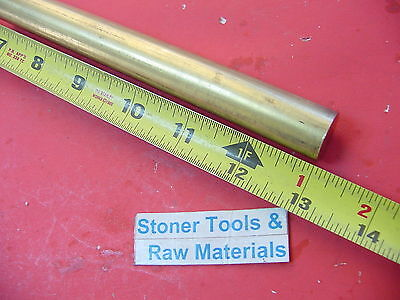 34 C360 Brass Round Rod 13 Long Solid New Lathe Bar Stock H02 .750 Diameter
