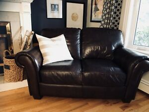 Lanes Leather Sofa and Love Seat Set