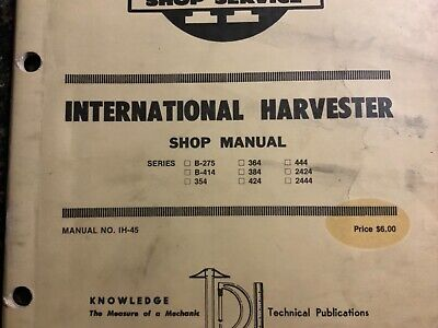 International Harvester Series B275b41435436438442444424242444 Manual
