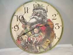Howard Miller Moment in Time Musical Wall Clock Perfetts Antique Christmas Santa