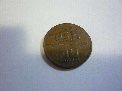 50 centimes belgique pièce - belgie munt 1957