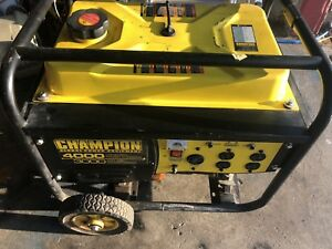 Champion 4000(3000 rated watts) generator for sale