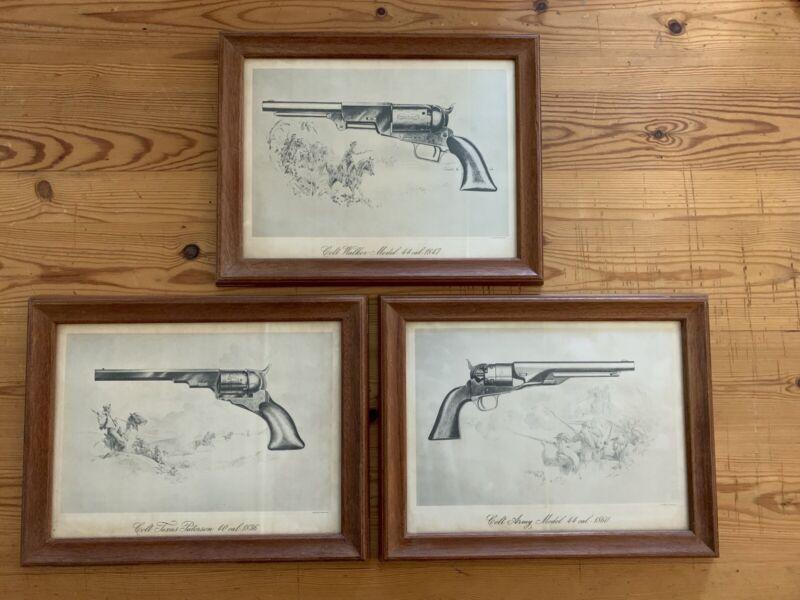 Colt Patent Fire Arms Manufacturing Gun Co Hartford CT  Lithograph Set 1940