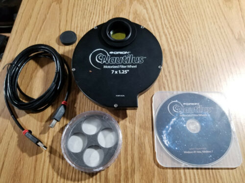 Orion 5527 Nautilus Motorized Filter Wheel 7in x 1.25in USB w/ Software