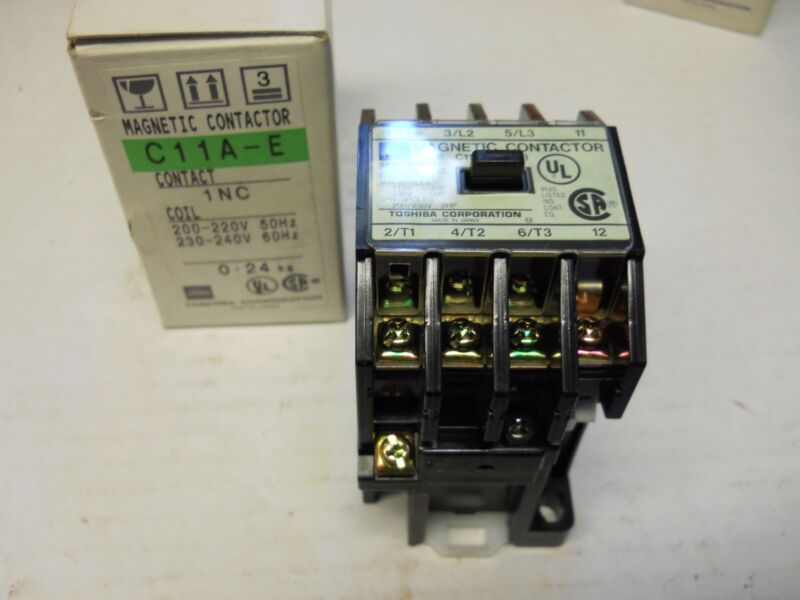 TOSHIBA C11A-E 1NC MAGNETIC CONTACTOR 15A 240V NEW CONDITION IN BOX