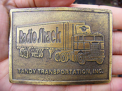 Vtg RADIO SHACK Belt Buckle HAM Amateur CB Scanner TANDY Employee SIGN RARE VG+ Radio Shack Ham Radio