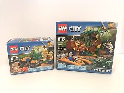 NEW LEGO City 60156 Jungle Buggy & 60157 Jungle Starter Set Retired Building Toy