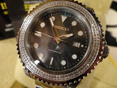 Invicta 30325 Grand Diver 47mm Automatic 0.75ctw Diamond S/S Bracelet Watch NEW!