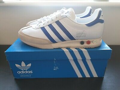 Adidas Kegler Super White/Blue - UK12 - 2018