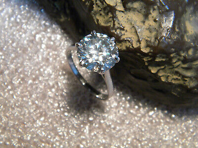 3.80 ct vs1//GORGEOUS BLUE GREEN PEAR REAL MOISSANITE 925 STERLING SILVER RING
