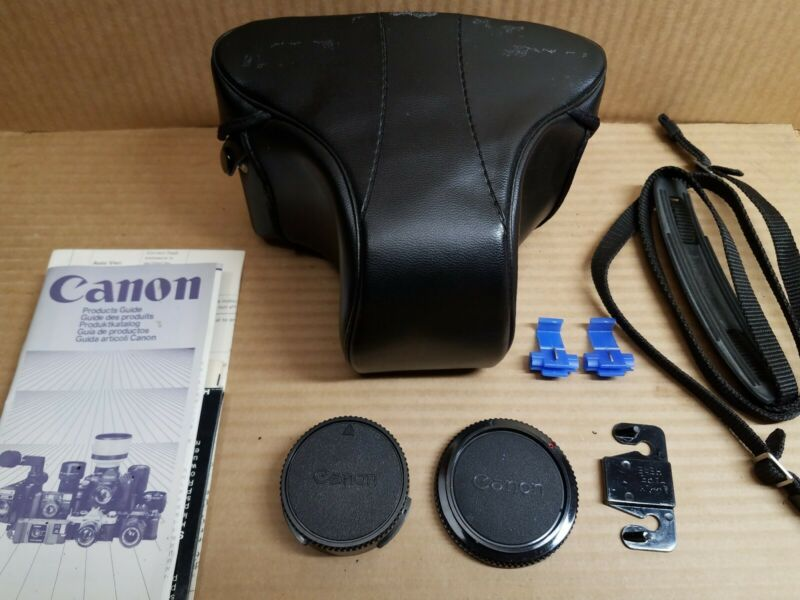 Vintage Canon Camera Case With Accessories