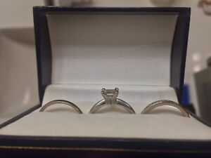 Engagement, wedding and anniversary rings