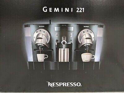 Nespresso Gemini 221 Pro Espresso Machine - New Unit With Literture