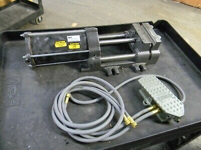 Heinrich Pneumatic Double Acting Air Stationary Machine Vise 6 Jaw Da-6601