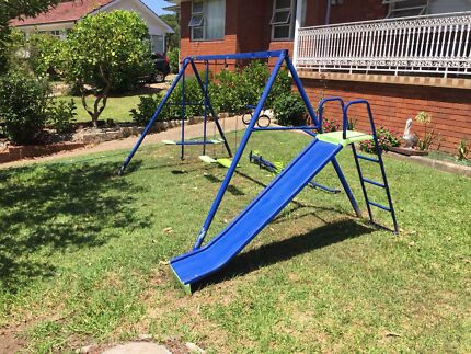 Swing Set With Slide And Spare Swings