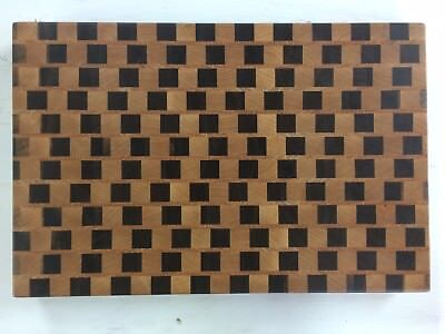 3D End Grain Cutting Board, Handmade with Walnut, Maple and Oak Wood