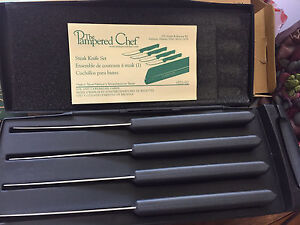 New in box Pampered Chef steak knives