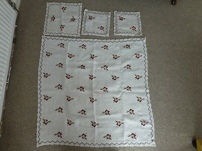 Vintage Ubelhor Table Linen - Austrian Linen  Four Piece From Single Ownership
