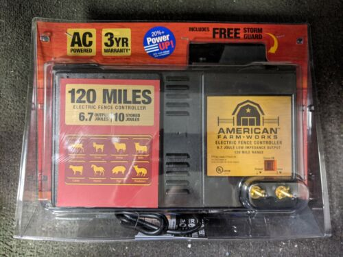 American Farm-Works 120 Miles Low-Impedance Electric Fence Controller BRAND NEW