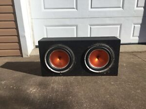 12 inch Blackmore subs/1400 W amp
