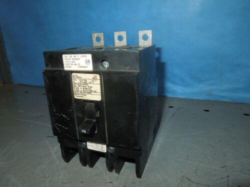 Siemens Bqch3b015 15a 3p 480v 50/60hz Circuit Breaker Type Bqch Used