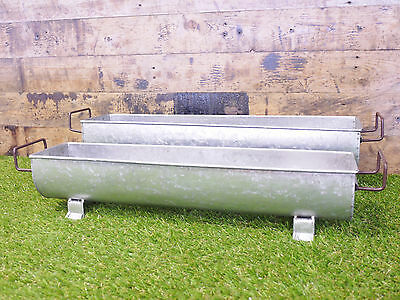 S/2 Industrial Large Planter Flower Plant Pots Garden Ornament Metal Trough