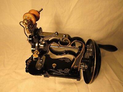 Antique New England Civil War Sewing Machine - circa 1860s Hand Crank (Restored)