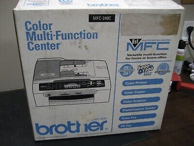 New Brother Mfc 240c 6-in-1 Ink Jet Multi-function Fax Copy Media Card Slots