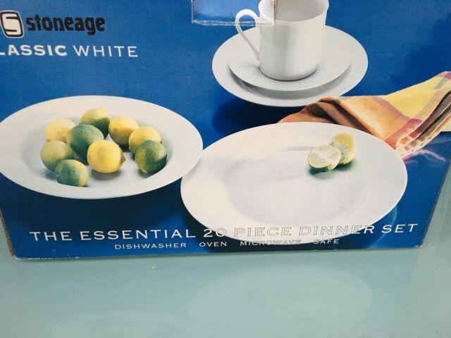 Stoneage 20 piece white dinner set - Brand New! | Dinnerware | Gumtree Australia Darebin Area - Preston | 1180665816 & Stoneage 20 piece white dinner set - Brand New! | Dinnerware ...