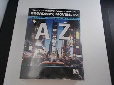 *  Ultimate song pages:songbook-broadway ,movies,TV-252 songs-Piano/Vocal/Chords (Broadway Movies Songbook)