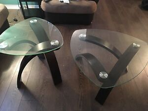 Coffee tables glass set of 2