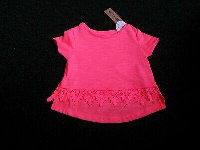 Mädchen Neon Coral (BNWT River Island funky designer neon orange/coral short sleeved t-shirt 0-3 m)