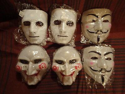6 Stück Masken Vendetta SAW Michael Myers unbenutzt Konvolut Halloween Fasching